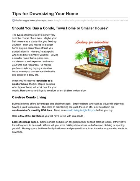downsizing tips tips for downsizing your home