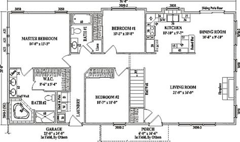 ranch open concept floor plans pinebrook by wardcraft homes ranch floorplan