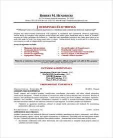 Licensed Electrician Sle Resume by Sle Electrician Resume 9 Exles In Word Pdf