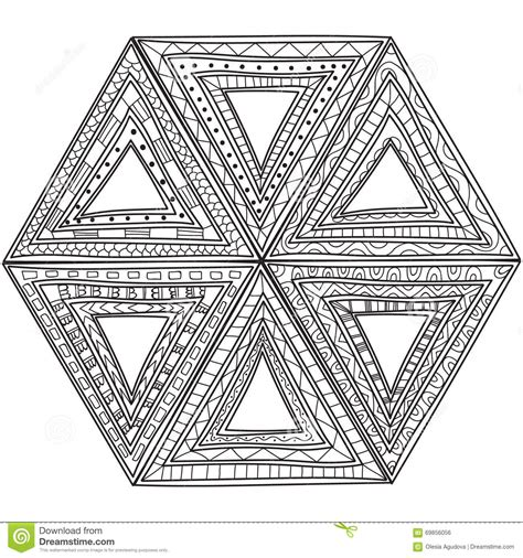 triangle pattern coloring page black and white pattern of triangles coloring pages for