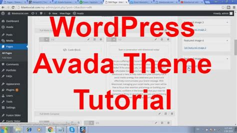 avada theme wordpress tutorial website design tutorial using wordpress avada theme youtube