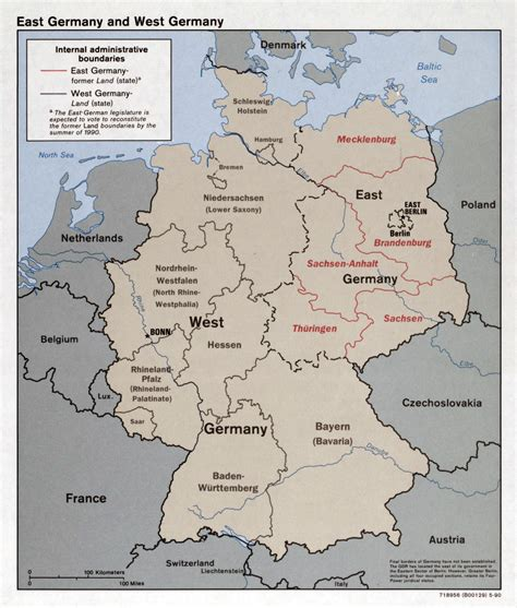 map of western germany large detailed political and administrative map of east