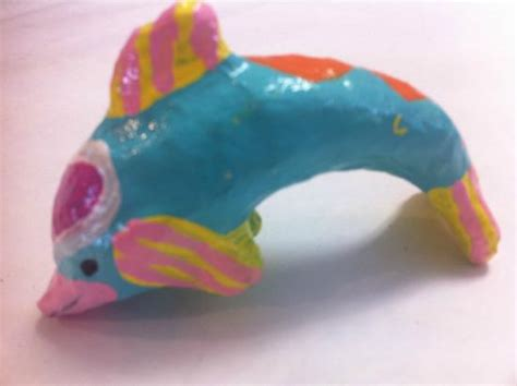 How To Make A Paper Mache Dolphin - paint a paper mache dolphin at knitfit in solvang ca
