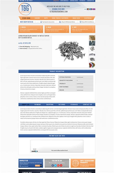 custom ebay shop listing template portfolio