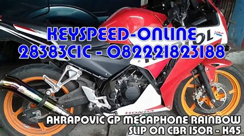 Knalpot Akrapovic Gp Rainbow Slip On 250 knalpot cbr 150r k45 slip on akrapovic gp megaphone rainbow