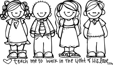 child color free lds clipart to color for primary children lds color