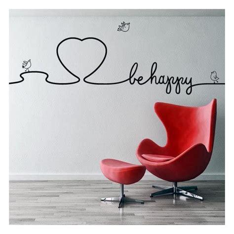 decorar paredes vinilos vinilos decorativos textos decorar paredes be happy
