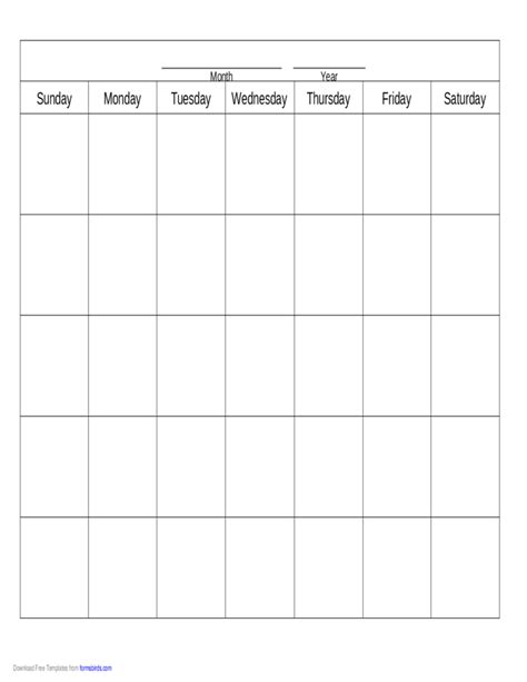 blank calendar template download blank calendar template free download