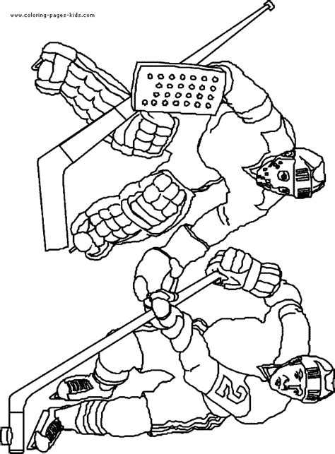 ice hockey color page coloring pages for kids sports