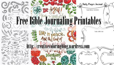 Free Printables For Bible Journaling Creative Coloring Blog Free Bible Journaling Templates