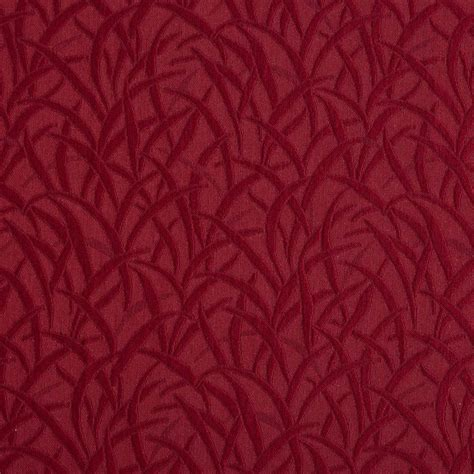 upholstery grade red grassy meadow jacquard woven upholstery grade fabric