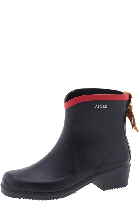 aigle boots for aigle miss juliette navy blue ankle rubber boots
