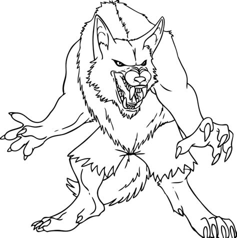 baby werewolf coloring page demon wolf coloring pages lineart classic movie