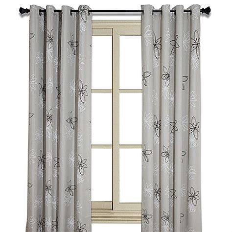 102 inch drapes buy crawford 102 inch floral print room darkening window
