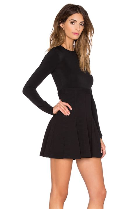 Sleeve Fit Dress lyst bcbgeneration sleeve fit flare dress in black