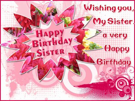 happy birthday images for my sister best happy birthday quotes for sister studentschillout