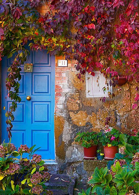 colorful door blue door tuscany italy doors door knockers key