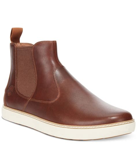 timberland chelsea boots mens timberland earthkeepers hudston chelsea boots in brown for