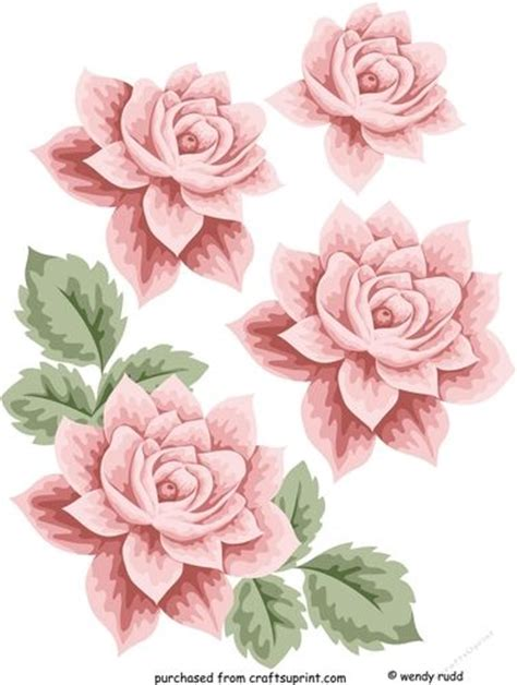 Decoupage Roses - 968 best images about 3d flowers on vintage