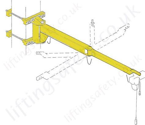 swing jib cranes donati mbb articulating wall mounted swing jib crane