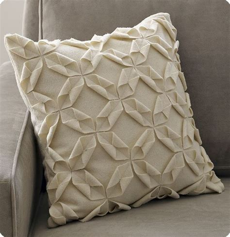How To Make A Paper Pillow - felt origami throw pillow