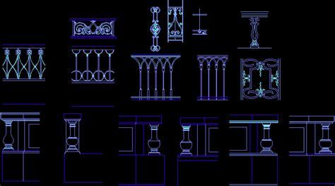 balustrade dwg block  autocad designs cad
