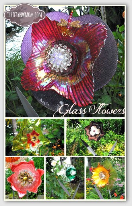 Diy Glass Garden Flowers Using Recycled Glass To Make Flowers Diy Glass Flowers Gardens And Garden