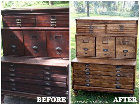 Easy Bathroom Makeover Ideas Furniture Makeovers With Stain Diy Furniture Before And