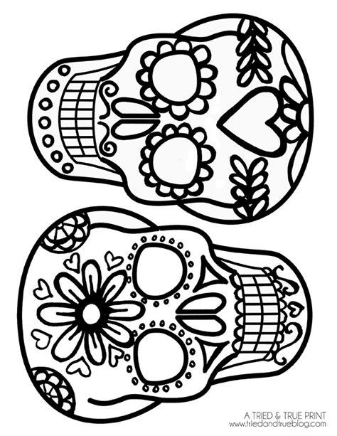 dia de los muertos skull template dia de los muertos calavera t shirt ilovetocreate
