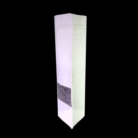 Standing Pouch Cfaft Paper 13 X 20 Cm 250 Gram White Rice Paper With Clear Display Window Stand Up
