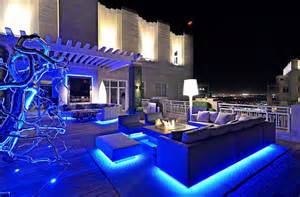 Patio Furniture Lighting Decorating A Rooftop Space In Five Easy Steps