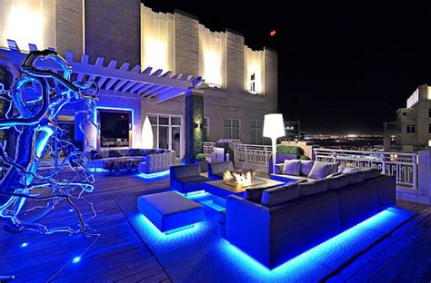 Patio Lights Blue Decorating A Rooftop Space In Five Easy Steps