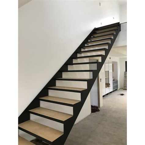 Escalier Droit Metal by Escalier Droit 224 Limon Asym 233 Trique En M 233 Tal Thermolaqu 233