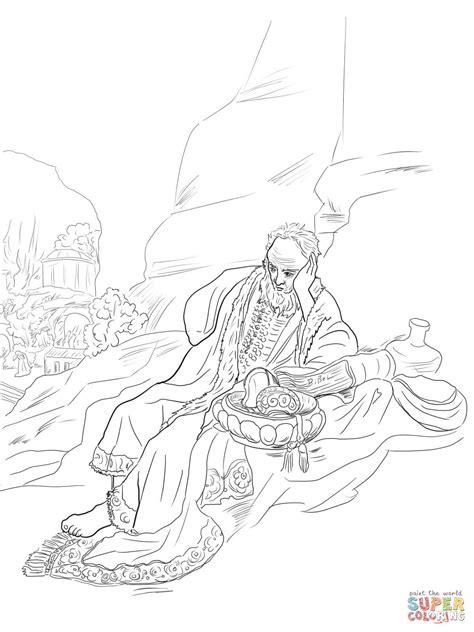 Dibujo de Jeremías lamenta la destrucción de Jerusalén