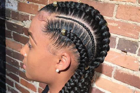 braided in 8 black hair braid styles black coffy