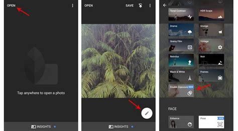 cara edit foto urbex di snapseed cara edit foto dengan efek double exposure di snapseed fan