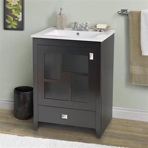 bathroom cabinets menards 24 quot tessar vanity ensemble at menards bathroom