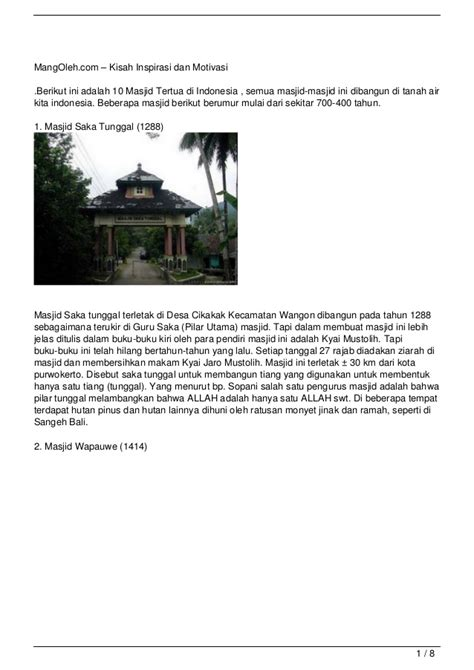 film motivasi dan inspirasi indonesia 10 masjid tertua di indonesia kisah inspirasi dan motivasi