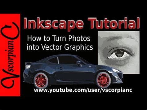 raster to vector tutorial inkscape videolike