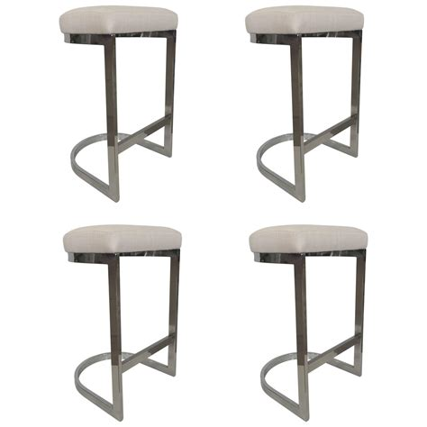 chrome bar stools dia chrome bar stool at 1stdibs