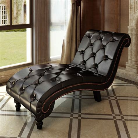 brown lounge chesterfield brown chaise lounge button tufted vidaxl com