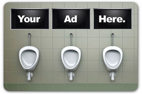 bathroom advertising hey marketers leave me alone when i m on the toilet