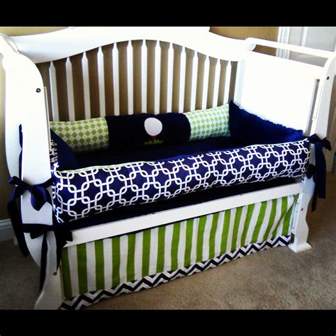 Monogrammed Crib Bedding Custom Baby Crib Custom Crib Bedding Blue Yellow And Made To Order Baby Crib Can Make It