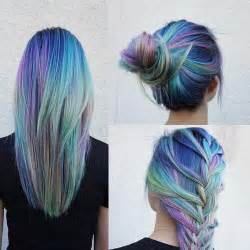 hair with color hair hair color hair bun colorful hair rainbow