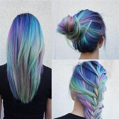 colorful hair styles long hair hair color hair bun colorful hair rainbow