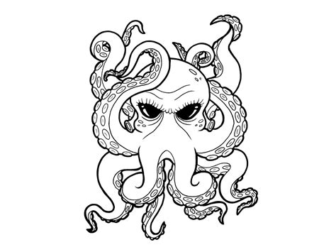 cartoon tattoo stencils cartoon black eyes octopus tattoo tattoo design ideas