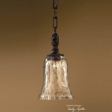 uttermost galeana seeded glass mini pendant in antique