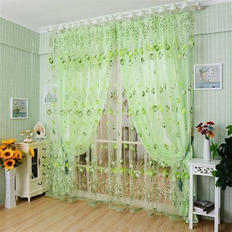 sheer door curtain panel honana 1x2m tulips flower voile door curtain panel window