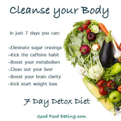 Eat Your Way To Health 28 Day Detox by 7 Day Detox Diet Join The January 5th Challenge