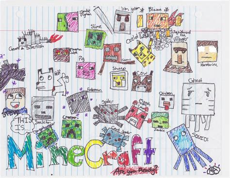 all minecraft mobs drawings how to draw minecraft mobs how to draw minecraft mobs